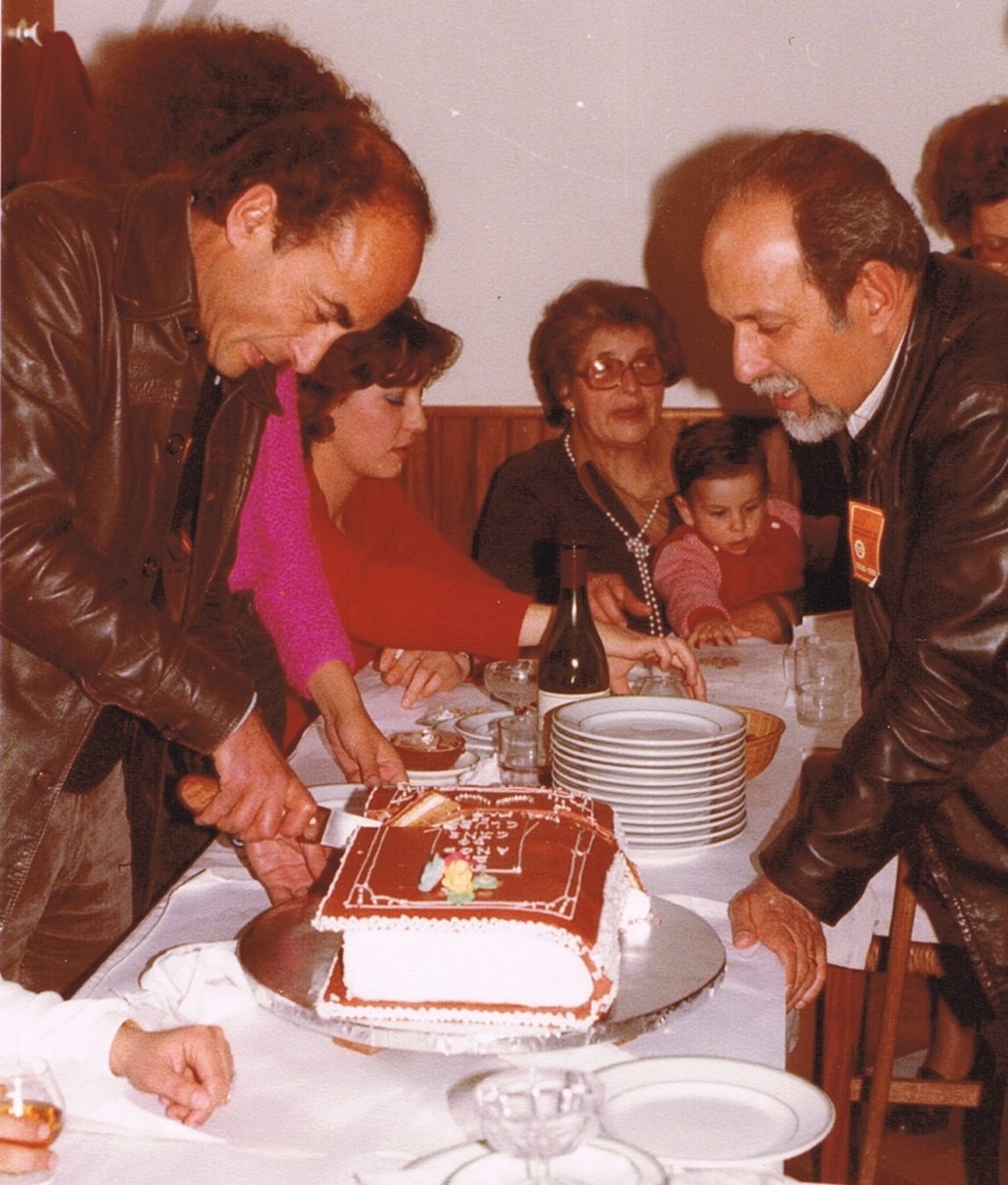 Alberto Mendonça Neves e Morgado André no 25º Aniversário do Cineclube Abril 1981